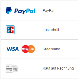 Mit PayPal zur Lastschrift - Kreditkarte - Kauf auf Rechnung